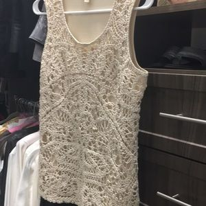Crocheted knitted top